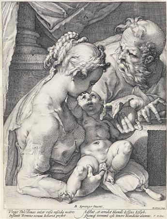HENDRICK GOLTZIUS (after Spranger) The Holy Family