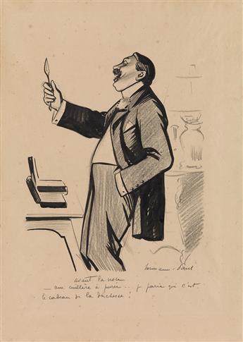 RENÉ GEORGES HERMANN-PAUL (Paris 1864-1940 Saintes-Maries-de-la-Mer) Group of 6 drawings.