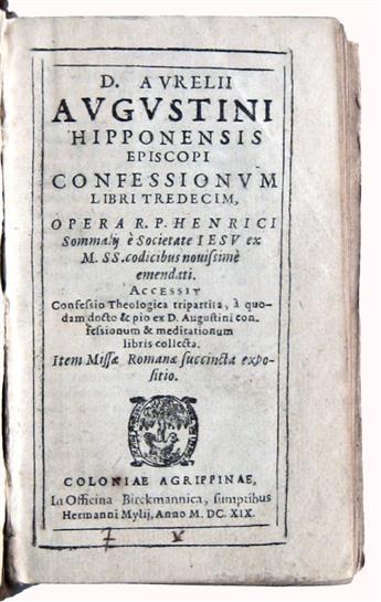 AUGUSTINUS, AURELIUS, Saint. Confessionum libri tredecim.  1619