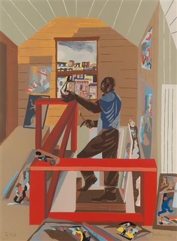 JACOB LAWRENCE (1917 - 2000) The Studio.