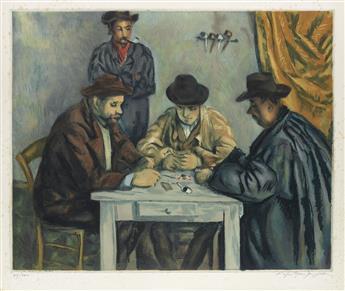 PAUL CÉZANNE (after) Les Jouers des Cartes