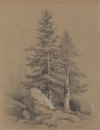 JULES-LOUIS-PHILIPPE COIGNET (Paris 1798-1860 Paris) Collection of 17 pencil and crayon landscape drawings.