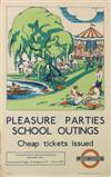 ARNRID BANNIZA JOHNSTON (DATES UNKNOWN). PLEASURE PARTIES SCHOOL OUTINGS. 1933. 39x25 inches, 100x63 cm. Waterlow & Sons Limited, Londo