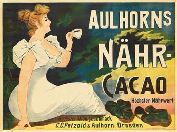 FR. WIESE (DATES UNKNOWN). AULHORNS NÄHR - CACAO. 1896. 27x37 inches, 70x94 cm. Meisenbach & Riffarth Co., Berlin.