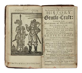 DELONEY, THOMAS. The Delightful . . . History of the Gentle-Craft . . . Shewing What Famous Men have been Shooe-Makers.  1725