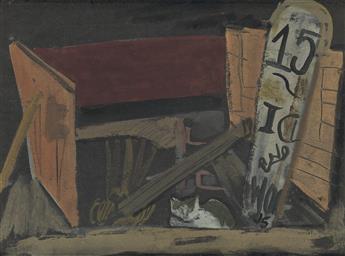 JOSEPH SOLMAN Ice Cellar with Cat.