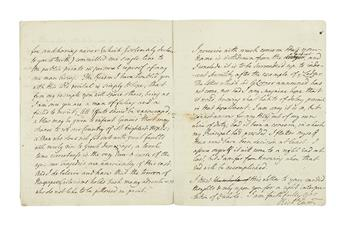 (AMERICAN REVOLUTION.) CUMBERLAND, RICHARD. Lengthy Autograph Letter Signed, Richd Cumd, to the Editor of the Morning Chronicle (D