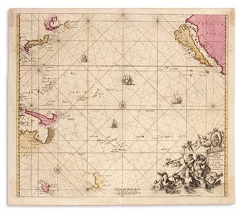 DE WIT, FREDERICK; and RENARD, LOUIS. Magnum Mare del Zur cum Insula California.