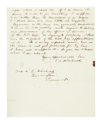 HITCHCOCK, ETHAN ALLEN. Group of 4 Autograph Letters Signed, E AHitchcock, to his mother (Dear Mother or My Dear Mother),