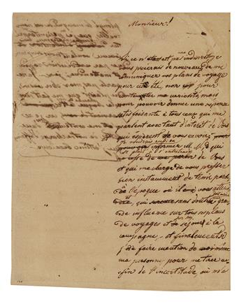 NAPOLÉON II. Autograph Manuscript, unsigned, in French, likely a practice letter written as a students exercise,