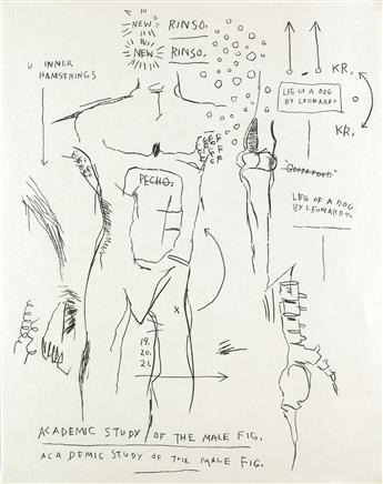JEAN-MICHEL BASQUIAT Academic Study of the Male Figure.
