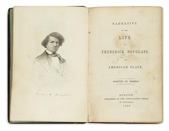 (SLAVERY AND ABOLITION.) Douglass, Frederick. Narrative of the Life of Frederick Douglass, an American Slave.