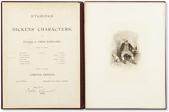 [DICKENS, CHARLES.] Barnard, Fred (illus.). Etchings of Dickens Characters.
