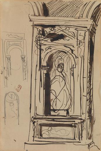 EUGÈNE DELACROIX (Saint-Maurice 1798-1863 Paris) Studies for the Decorations in the Palais Bourbon, Paris.