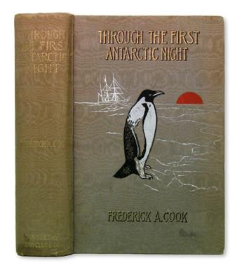 COOK, FREDERICK ALBERT. Through the First Antarctic Night, 1898-1899.  New York, 1900.  One of 1000, signed by Cook.