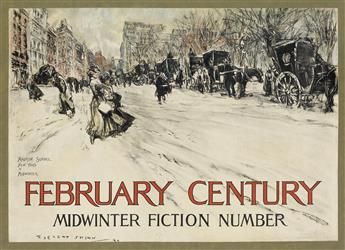 EVERETT SHINN (1876-1953). FEBRUARY CENTURY MIDWINTER FICTION NUMBER / MADISON SQUARE. 1899. 14x19 inches, 36x48 cm. J. Ottmann Lith. C