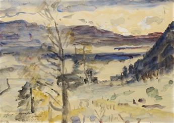 LOVIS CORINTH Walchensee Landschaft.