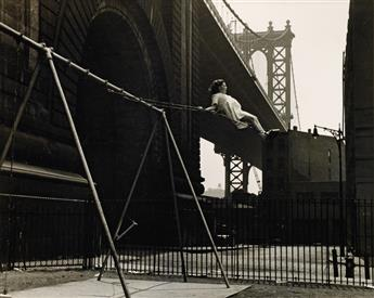 WALTER ROSENBLUM (1919-2006) Child on a Swing, Pitt Street, New York.