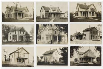(HOME SWEET HOME) An comprehensive collection with over 250 topographic real photo postcards surveying all-American Victorian homes.