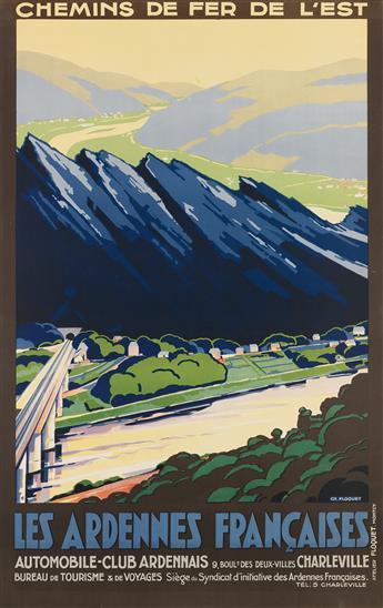CH. FLOQUET (DATES UNKNOWN). LES ARDENNES FRANÇAISES. Circa 1930s. 39x24 inches, 100x63 cm. Floquet, Montcy.
