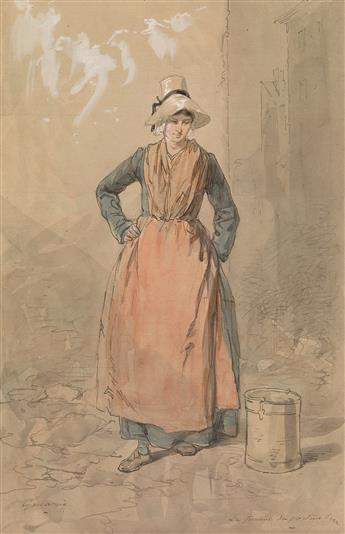 PAUL GAVARNI (Paris 1804-1866 Neuilly-Auteuil-Passy) A Woman Carrying Water.
