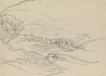 CHARLES BURCHFIELD Three pencil landscape studies.