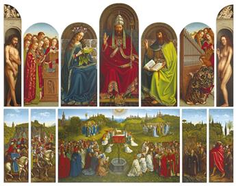 ARUNDEL SOCIETY. Large collection of approximately 185 chromolithographed European Renaissance master paintings.