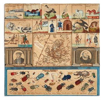 (MANUSCRIPT MAP.) Staab, Odo. Didactic manuscript map of Europe.