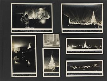 (SAN FRANCISCO--PAN PACIFIC INTERNATIONAL EXPOSITION) Large and meticulously compiled album containing approximately 330  photographs o
