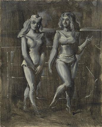 REGINALD MARSH Two Women in Bathing Suits on the Boardwalk.