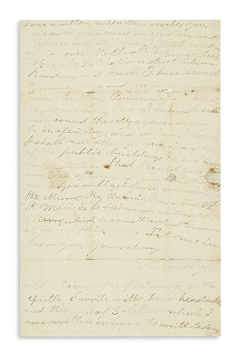GREELEY, HORACE. Autograph Letter Signed, H. Greeley, to printer C.A. Powe,
