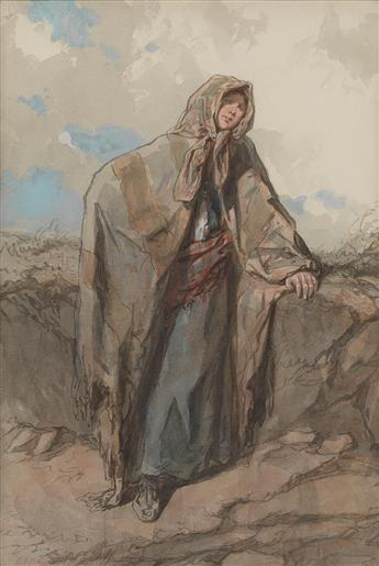 PAUL GAVARNI (Paris 1804-1866 Neuilly-Auteuil-Passy) A Derelict Woman.