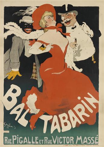 JULES-ALEXANDRE GRÜN (1868-1938). BAL TABARIN. 1904. 48x35 inches, 123x89 cm. Chaix, Paris.