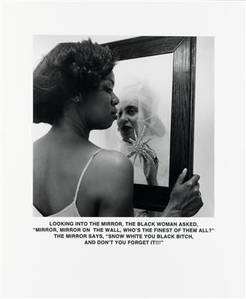 CARRIE MAE WEEMS (1953-   ) Mirror, Mirror.