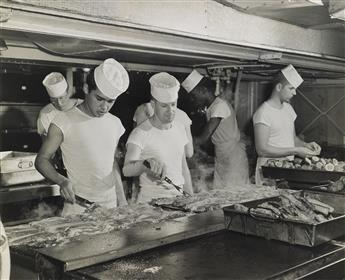 (NAVAL & MILITARY--FOOD) Mini-archive of 60 post-war photographs associated with grub and the servicemen who enjoy it.