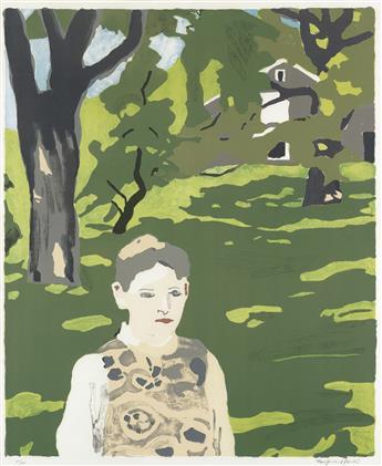 FAIRFIELD PORTER Girl in the Woods.