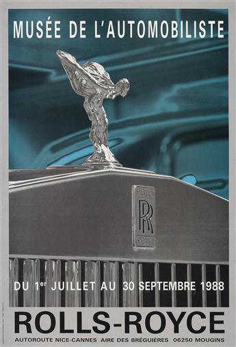 PHOTO BY PHILIPPE PERRIN (1964- ). ROLLS - ROYCE / MUSÉE DE L'AUTOMOBILE. 1988. 24x16 inches, 62x42 cm. Maeght, Paris.