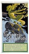 ADOLFO HOHENSTEIN (1854-1928) FIAMMIFERI SENZA FOSFORO. Circa 1910. 24 x 12 inches.  Doyen Di L. Simondetti, Torino.