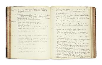 (COLORADO.) Hart, H. Martyn. Diary kept by the controversial dean of Denvers St. Johns Cathedral.
