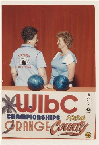 (WOMENS INTERNATIONAL BOWLING CONGRESS) A mini-archive including 46 colorful all-American photographs chronicling various womens team