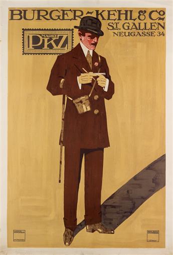 LUDWIG HOHLWEIN (1874-1949). BURGER - KEHL & CO / MARKE PKZ. 1911. 50x34 inches, 129x88 cm. Wolfensberger, Zurich.