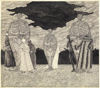 EDWARD GOREY. Skeletons and Hiding Figures.