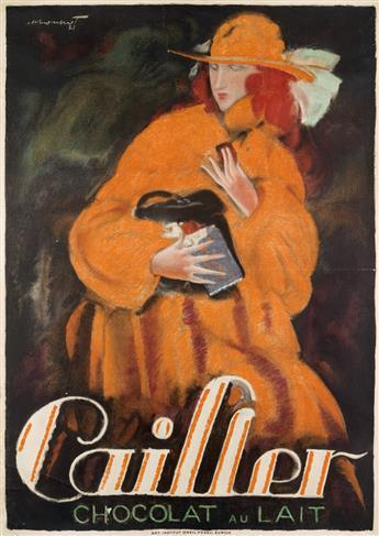 CHARLES LOUPOT (1892-1962). CAILLER / CHOCOLAT AU LAIT. 1921. 50x35 inches, 128x90 cm. Orell Füssli, Zurich.