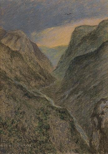 PIERRE PRINS (Paris 1838-1913 Paris) A View of Amélie les Bains.