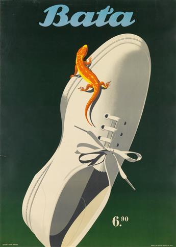 HERMANN EIDENBENZ (1902-1993). BATA. 1948. 50x35 inches, 127x90 cm. Art Institut Grafica, Basel.