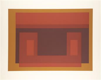 JOSEF ALBERS Group of 4 color screenprints from Six Variants.