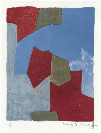 SERGE POLIAKOFF Composition Bleue et Rouge.