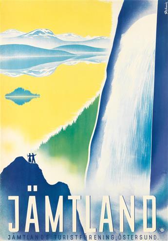 GÖTE HENNIX (1902-1997). JÄMTLAND. Circa 1937. 39x27 inches, 99x68 cm. Stab, Ostersund.