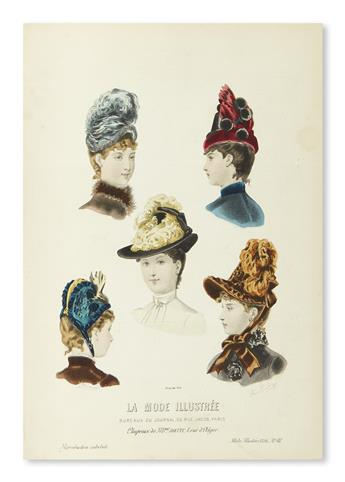 (FASHION.) La Mode Illustrée: Journal de la Famille. Nos. 1-52, 10 January-26 December, 1886.