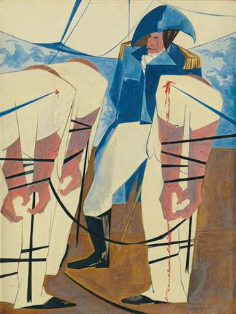 JACOB LAWRENCE (1917 - 2000) 19. Tension on the High Seas.